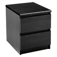 Tvilum Laguna 2 Drawer Nightstand, Black -Component