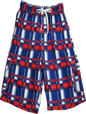 Norty Mens Swim Trunks - Watershort Swimsuit - Cargo Pockets - Drawstring Waist Bathing Suits and Swim Shorts - Super Comfortable and Fast Drying Board Shorts - Order 1 Size Larger