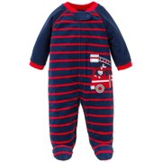 a7b96c0d7f Little Me Firetruck Warm Fleece Blanket Sleeper Footie Footed Pajamas Red  9M For Baby Boys Infant