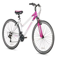 Susan G Komen 700C Women's, Hybrid Bike, Pink/White, For Ages 15+