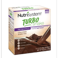 (2 Pack) Nutrisystem Turbo Chocolate Shake Mix, 1.4 Oz, 20 Ct