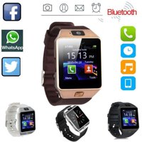 DZ09 Bluetooth Smart Watch Camera Phone Mate GSM SIM For Android iPhone Samsung Gold