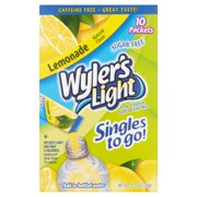 Wyler's Sugar-Free Light Lemonade Drink Mix Sticks, 1.36 Oz., 10 Count