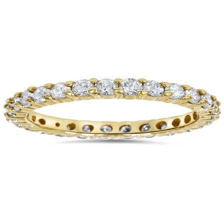 - 1 1/2ct Prong Diamond Eternity Ring 14K Yellow Gold