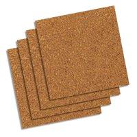 """Quartet Natural Cork Tiles,12"""" x 12"""", Frameless, Modular, 4-Count (102W-B)"""