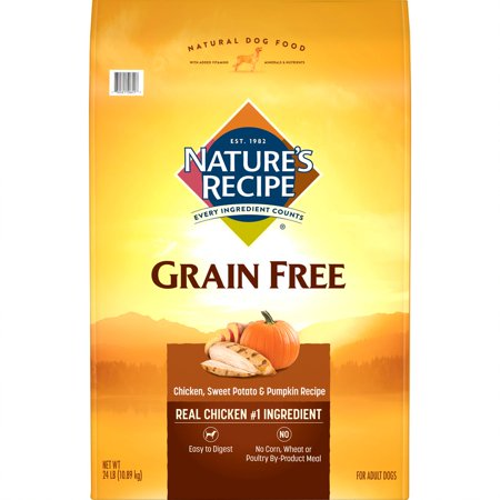 Nature's Recipe Grain Free Easy to Digest Chicken, Sweet Potato & Pumpkin Recipe Dry Dog Food,