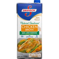 (4 Pack) Swanson Natural Goodness Chicken Broth, 32 oz. Carton