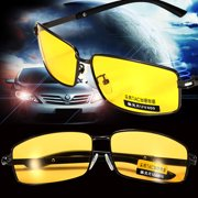 fbfd1d3c79 Yellow Lens UV Protection Polarized Night Vision Glasses Eyeglasses  Anti-Glare Driving Sunglasses Sport Outdoor