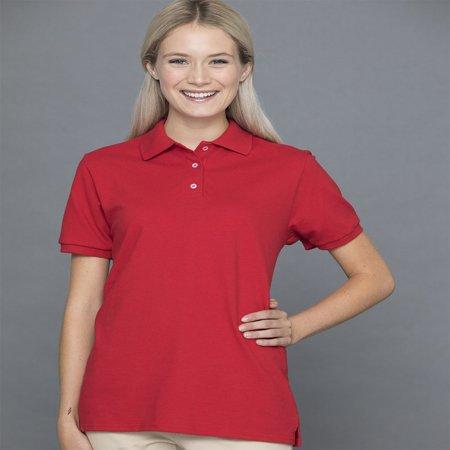 100% Cotton Pique Polo (JERZEES - Women's 100% Ringspun Cotton Pique Sport Shirt - 443W)