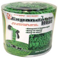 50' Expandable Hose with Spray Nozzle - Will Not Kink - Lightweight - Easy to Store - Durable Construction with Multiple Rubber Layers