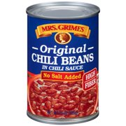 Mrs. Grimes Original Style No Salt Added Chili Beans In Chili Sauce, 15 oz