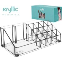 Lipstick Makeup Cosmetic Storage Organizer - Clear organizers for brush palette make up eyeshadow nail polish perfume lipsticks lipgloss pens & more! Acrylic vanity case holder for any size cosmetics