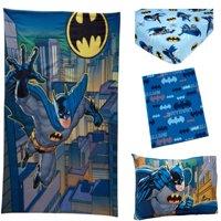 Warner Bros. Batman 3-Piece Toddler Bedding Set with BONUS Matching Pillow Case