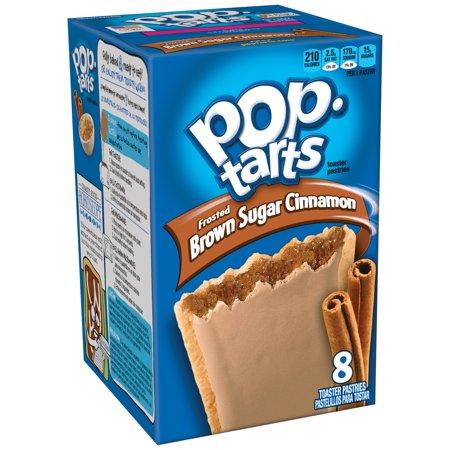 Sugar Free Breakfast ((4 Pack) Kellogg's Pop-Tarts Breakfast Toaster Pastries, Frosted Brown Sugar Cinnamon Flavored, 14 oz 8 Ct )