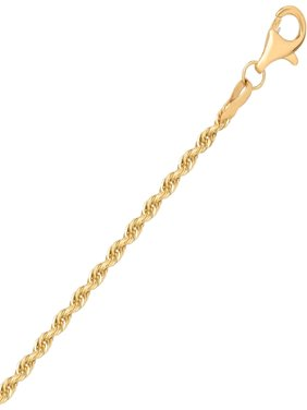 10KT Yellow Gold 2.0mm Rope Chain, 20
