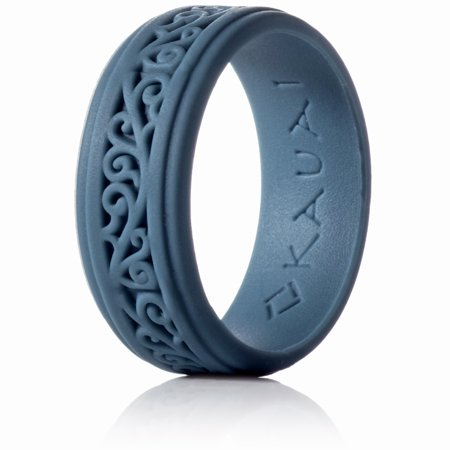 Silicone Rings Elegant, Comfortable, Engagement Wedding Marriage Bands for Men Women Non Conductive Rubber Metal Free Ring, Jewelry, Anniversary, Sports, Gym, Work, Medical Grade Silicone D-shaped Band Wedding Ring