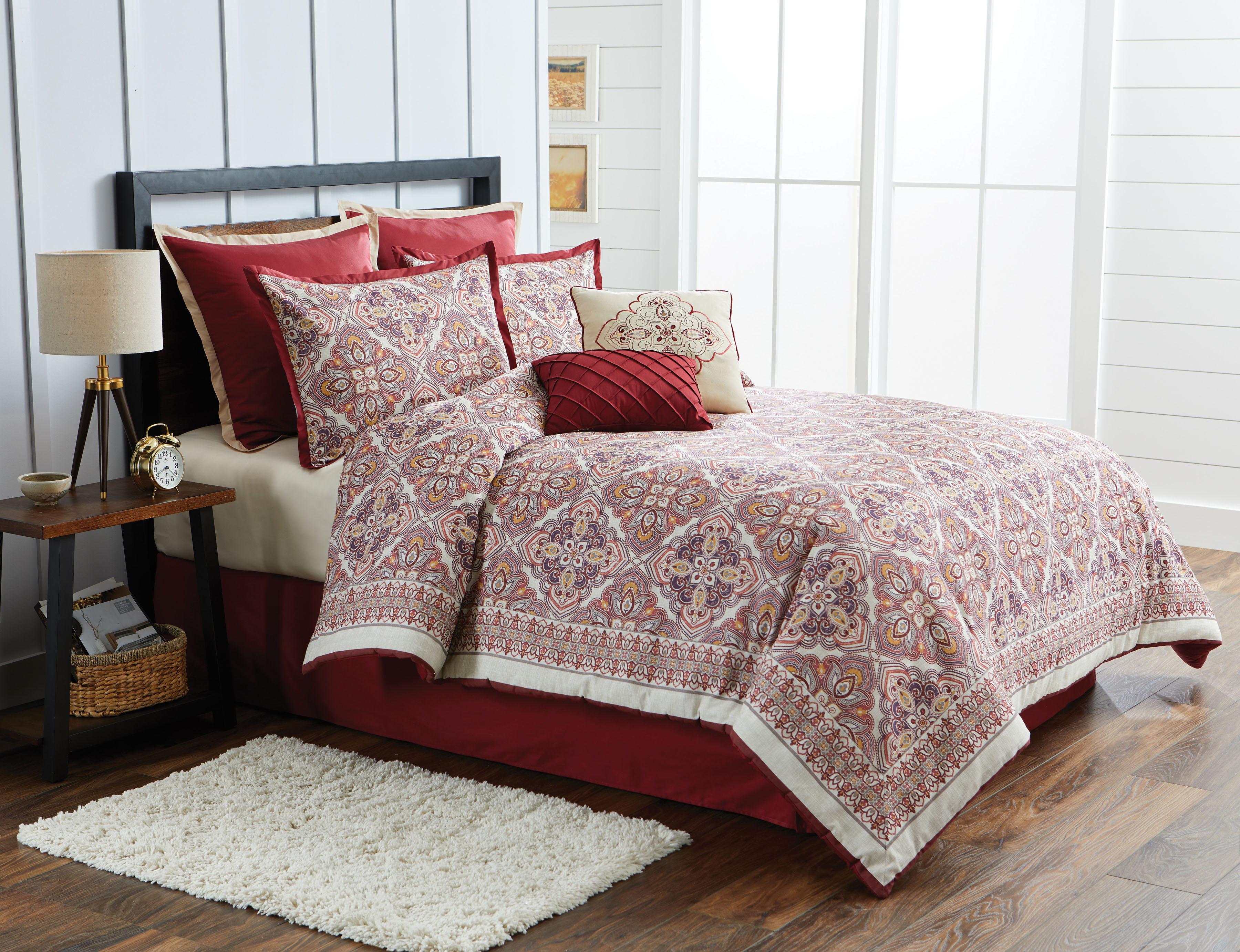 Better Homes & Gardens King Global Mandala Comforter Set, 8 Piece