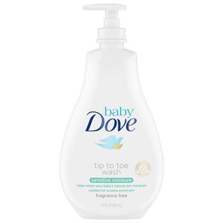 Baby Dove Sensitive Moisture Tip to Toe Baby Wash, 20 oz (Baby Dove Girl)