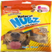 Nylabone Natural Nubz Edible Dog Chew Treat Chicken