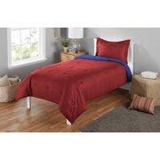 Mainstays Seerer King Solid Reversible Mini Comforter Set 3 Piece