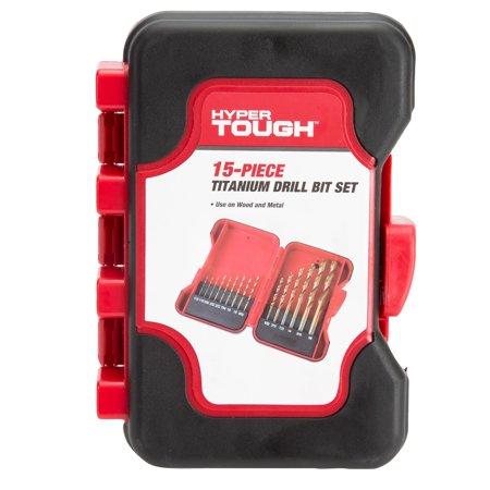 Hyper Tough 15 Piece Titanium Drill Bit Set (Drill Accessories)