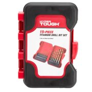 Hyper Tough 15 Piece Titanium Drill Bit Set