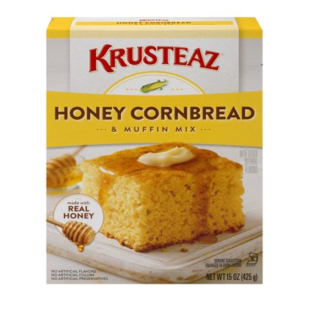 (2 pack) Krusteaz Honey Cornbread and Muffin Mix, 15