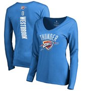 07badcf8767 Russell Westbrook Oklahoma City Thunder Fanatics Branded Women's Backer Name  & Number Long Sleeve T-