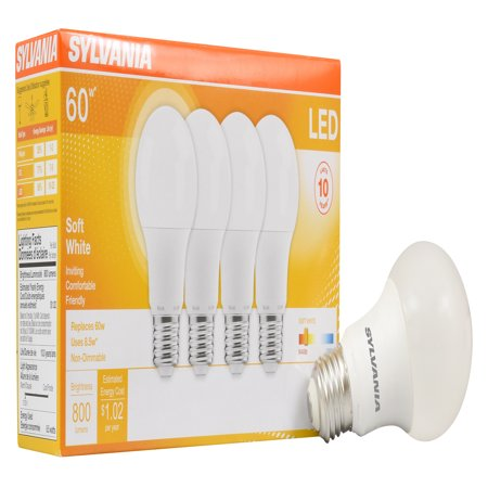 Sylvania LED Light Bulbs, 8.5W (60W Equivalent), Soft White, 4-count - Led Lights Bulk