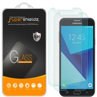 [2-Pack] Supershieldz Samsung Galaxy J7 (2017) Tempered Glass Screen Protector, Anti-Scratch, Anti-Fingerprint, Bubble Free