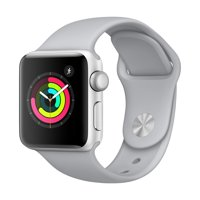 Refurbished Apple Watch - Series 3 - 38mm - Silver Aluminum Case - Fog Sport Band
