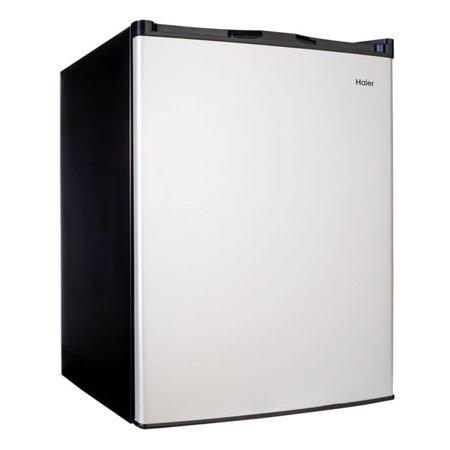 Haier 4.5 Cu Ft Single Door Compact Refrigerator HC46SF10SV, Virtual Steel