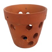 "Hand Made Terracotta Clay Orchid Pot - 5.5"" x 4"""