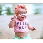 30052a968067b4 Baby Hat Headband, Knit Solid Color Soft Bunny Ear Head Wrap Headband Infant  Toddler Cap