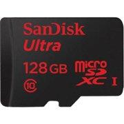 SanDisk Ultra 128 GB microSDHC - Class 10/UHS-I - 80 MB/s Read - 1 Card