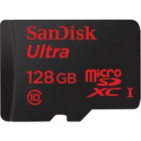 SanDisk Ultra 128 GB microSDHC - Class 10/UHS-I - 80 MB/s Read - 1 Card