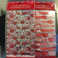 50 Valentine Heart Candy Treat Bags