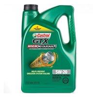 Castrol GTX High Mileage 5W-20 Synthetic Blend Motor Oil, 5 QT