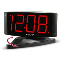 "Sharp 1.8"" Red LED Dimmer Alarm Clock"