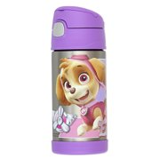 Thermos SS Vac Insulated 12oz Straw Bottle Paw Patrol Girl