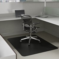 Deflecto EconoMat 36 x 48 Chair Mat for Low Pile Carpet, Rectangular, Black