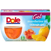(3 Pack) Dole Fruit Bowls, Mandarins in Orange Gel, 4.3 Ounce (4 Cups)