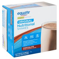 Equate Original Chocolate Nutritional Shakes, 8 fl oz, 16 count