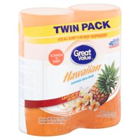 Great Value Hawaiian Automatic Spray Refill Twin Pack, 6.17 oz, 2 count