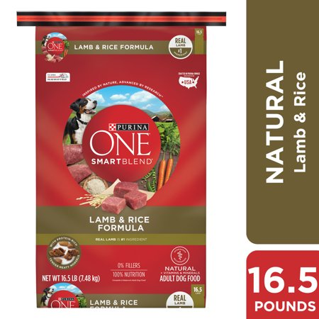 Purina ONE Natural Dry Dog Food; SmartBlend Lamb & Rice Formula - 16.5 lb. (Brown Rice In Dog Food Good Or Bad)