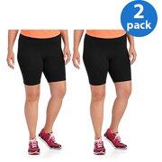 53a37643eea68 Danskin Now Women s Plus-Size Bike Shorts 2pk Value Bundle
