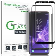 d7b644e319e Galaxy S9 Screen Protector Glass - amFilm Full Cover (3D Curved) Tempered  Glass Screen