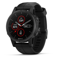 Garmin Fenix 5S Plus Sapphire Compact Multisport Watch with Music, Maps, and Garmin Pay
