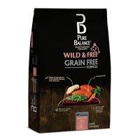 Pure Balance Wild & Free Grain-Free Salmon & Pea Recipe Dry Dog Food, 11 lb