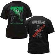 a972815a701e Godzilla World Destruction Tour Adult T-Shirt